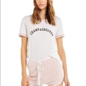 Wildfox Johnnie Champagneover Ringer Tee